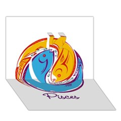 Pisces Star Sign Apple 3d Greeting Card (7x5)