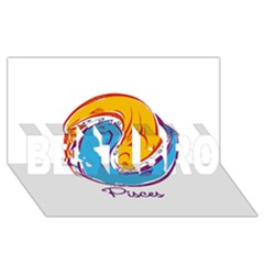 Pisces Star Sign BEST BRO 3D Greeting Card (8x4)