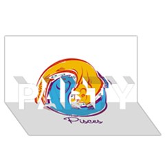 Pisces Star Sign Party 3d Greeting Card (8x4)