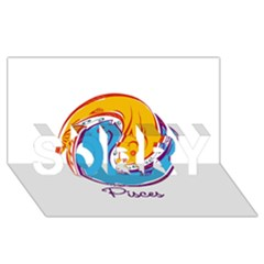 Pisces Star Sign Sorry 3d Greeting Card (8x4)