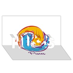 Pisces Star Sign Hugs 3d Greeting Card (8x4)