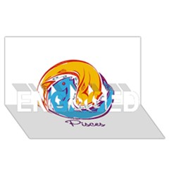 Pisces Star Sign Engaged 3d Greeting Card (8x4)