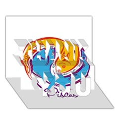 Pisces Star Sign Thank You 3d Greeting Card (7x5)