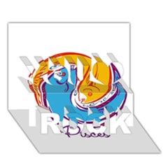 Pisces Star Sign You Rock 3D Greeting Card (7x5)