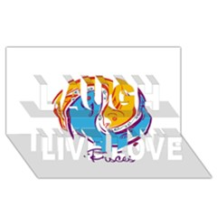 Pisces Star Sign Laugh Live Love 3d Greeting Card (8x4)