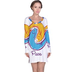 Pisces Star Sign Long Sleeve Nightdresses