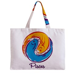Pisces Star Sign Zipper Tiny Tote Bags