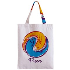 Pisces Star Sign Zipper Classic Tote Bags