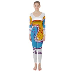 Pisces Star Sign Long Sleeve Catsuit