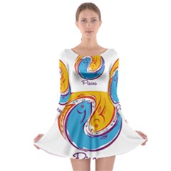Pisces Star Sign Long Sleeve Skater Dress