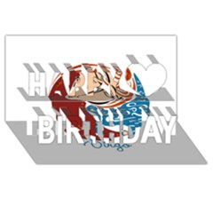 Virgo Star Sign Happy Birthday 3D Greeting Card (8x4)