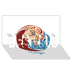 Virgo Star Sign BEST SIS 3D Greeting Card (8x4)