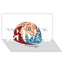 Virgo Star Sign #1 Dad 3d Greeting Card (8x4)