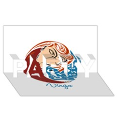 Virgo Star Sign PARTY 3D Greeting Card (8x4)