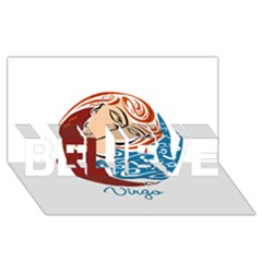 Virgo Star Sign Believe 3d Greeting Card (8x4)