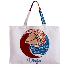 Virgo Star Sign Zipper Tiny Tote Bags
