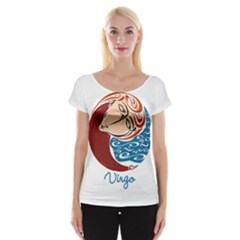 Virgo Star Sign Women s Cap Sleeve Top