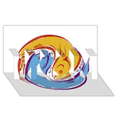Two Fish Mom 3d Greeting Card (8x4)