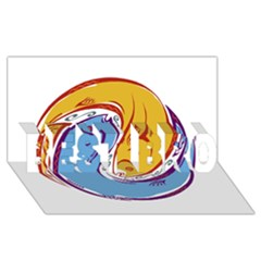 Two Fish BEST BRO 3D Greeting Card (8x4)