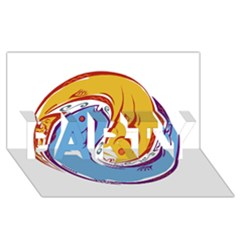 Two Fish PARTY 3D Greeting Card (8x4)