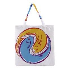 Two Fish Grocery Tote Bags