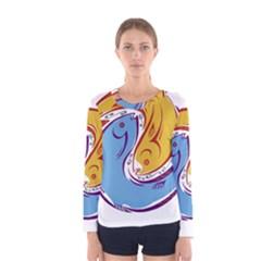 Two Fish Women s Long Sleeve T-shirts