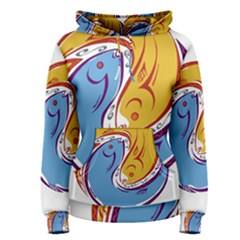 Two Fish Women s Pullover Hoodies