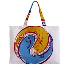 Two Fish Zipper Tiny Tote Bags