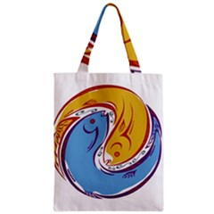 Two Fish Zipper Classic Tote Bags