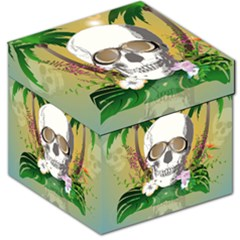 Funny Skull With Sunglasses And Palm Storage Stool 12