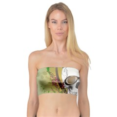 Funny Skull With Sunglasses And Palm Women s Bandeau Tops