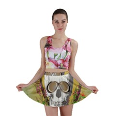 Funny Skull With Sunglasses And Palm Mini Skirts