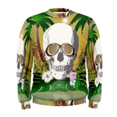 Funny Skull With Sunglasses And Palm Men s Sweatshirts