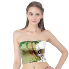 Funny Skull With Sunglasses And Palm Women s Tube Tops