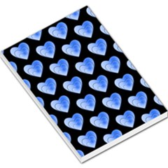 Heart Pattern Blue Large Memo Pads