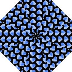 Heart Pattern Blue Hook Handle Umbrellas (medium)