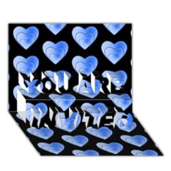 Heart Pattern Blue YOU ARE INVITED 3D Greeting Card (7x5)