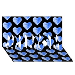 Heart Pattern Blue #1 MOM 3D Greeting Cards (8x4)