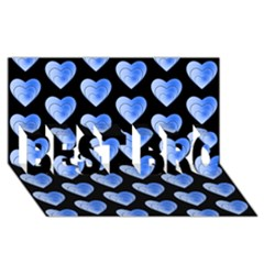 Heart Pattern Blue BEST BRO 3D Greeting Card (8x4)