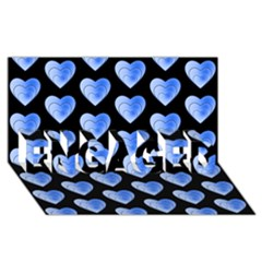 Heart Pattern Blue ENGAGED 3D Greeting Card (8x4)
