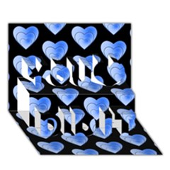 Heart Pattern Blue You Did It 3D Greeting Card (7x5)