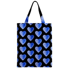 Heart Pattern Blue Classic Tote Bags