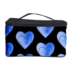 Heart Pattern Blue Cosmetic Storage Cases