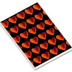 Heart Pattern Orange Large Memo Pads