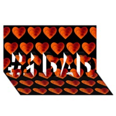 Heart Pattern Orange #1 DAD 3D Greeting Card (8x4)
