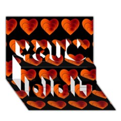 Heart Pattern Orange You Did It 3D Greeting Card (7x5)