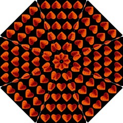 Heart Pattern Orange Hook Handle Umbrellas (small)