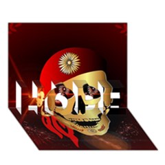 Funny, happy skull HOPE 3D Greeting Card (7x5)