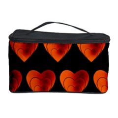 Heart Pattern Orange Cosmetic Storage Cases