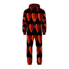 Heart Pattern Orange Hooded Jumpsuit (kids)